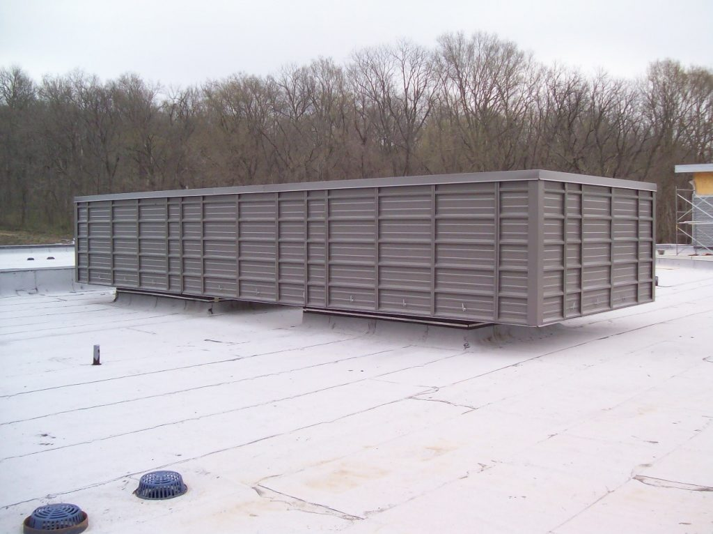 HVAC Roof Screening for Code Compliance and Nice Apperance