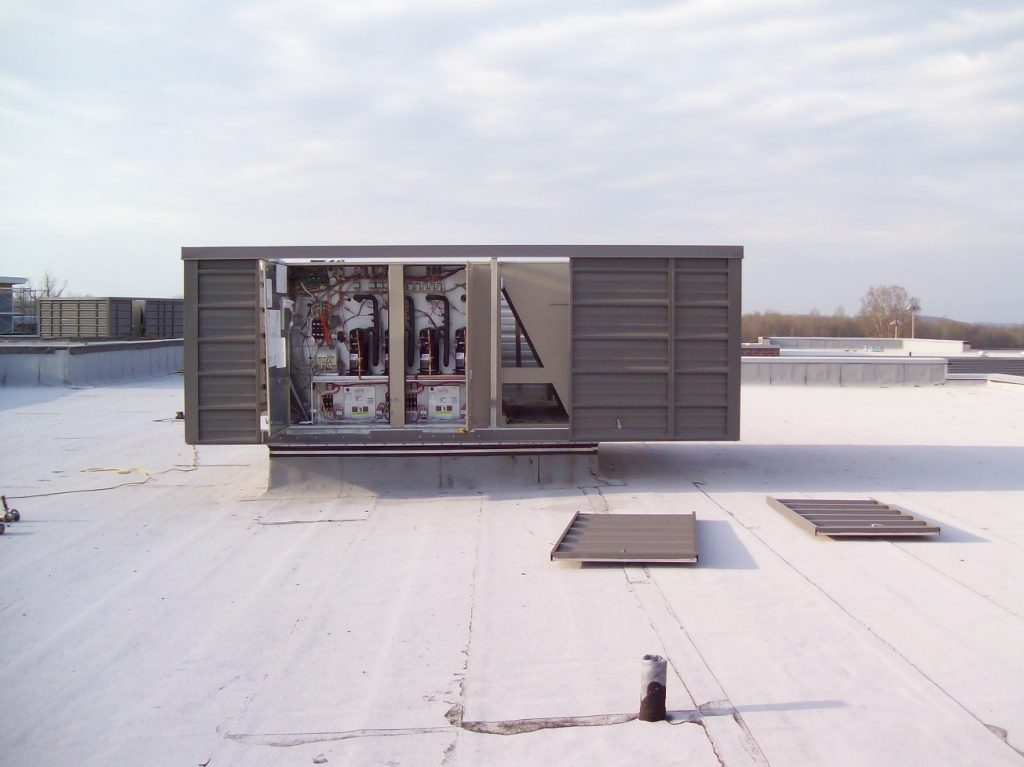 Roof Top HVAC Screening with Panels Removed